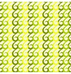 Green swirls seamless pattern vector image