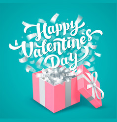 sant valentines day greeting card white happy vector image vector image