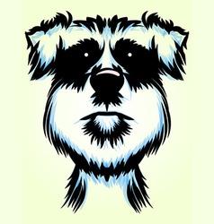 Terrier dog portrait vector