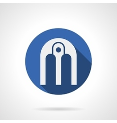 Arched composition blue round icon vector image