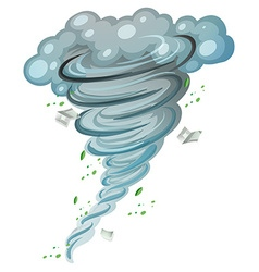 Hurricane spinning around with leaves and books vector