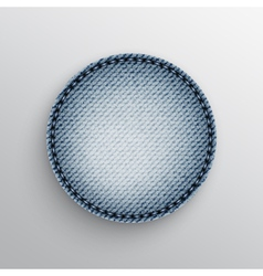 Jeans circle vector