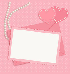 Retro pink framework vector image vector image
