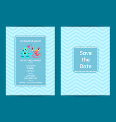 save the date wedding invitation template vector image