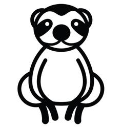 Cute animal sloth - vector