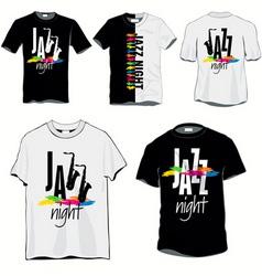 jazz night tshirts vector image