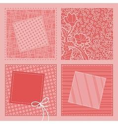 Retro Quilt Background vector image