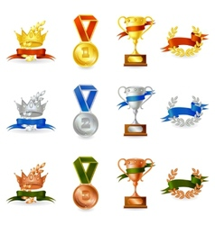 Set of awards and medals vector image vector image