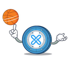 With basketball gxshares coin character cartoon vector