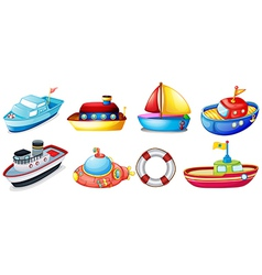 Collection of toy boats vector image