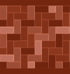 3d brick stone pavement red pathway pattern vector