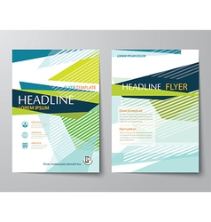 Abstract low polygon templates for flyer brochure vector