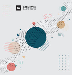 Abstract memphis geometric circles triangles vector
