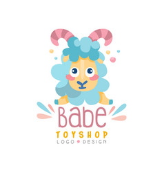 Babe toyship logo design cute badge can be used vector