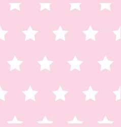 Baby star pattern white on pink vector