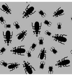 Beetle insect seamless pattern 662 vector image