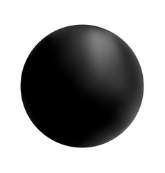 black ball on white isolated background vector image