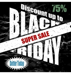 Black Friday banner template design vector