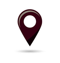 black gps navigator point pin map flat icon vector image