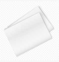 blank newspaper mockup isolated on transparent vector image