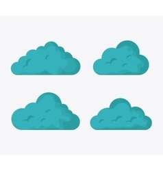 Blue and white design of cloud icon vector image