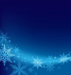 Blue Xmas Background vector image