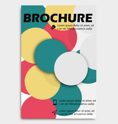 business brochure design template flyer layout vector image