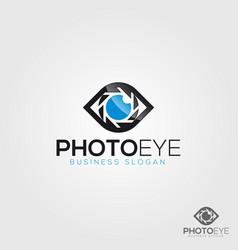 Camera logo - photo eye vector