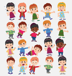 cartoon character boys and girls set with vector image