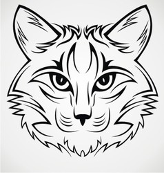 Cat Face Tribal vector