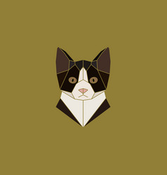 Cat head sign in abstract polygonal style vector