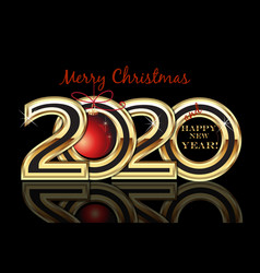 Christmas 2020 new year gold card background vector
