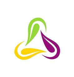 circle beauty leaf colorful logo vector image