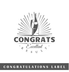 Congratulation label vector