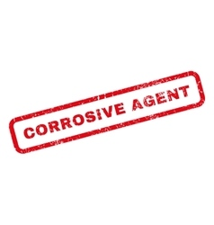 Corrosive Agent Rubber Stamp vector image