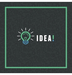 Creative idea concept in flat style vector