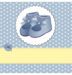Cute template for baby card vector image vector image