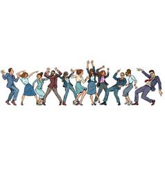 Dancing people businessmen and businesswomen vector