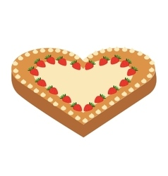delicious pie heart isolated icon design vector image