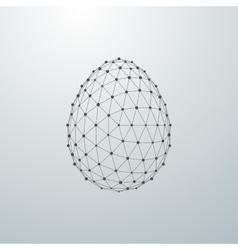 Easter egg 3D shape vector