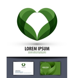 Ecology The leaves are heart-shaped Logo icon vector