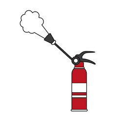 extinguisher firefigther tool vector image