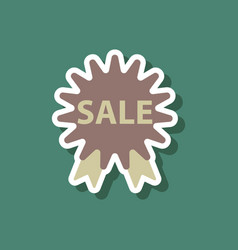 fashion patch sale sticker label shopping vector image