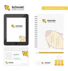 fish business logo tab app diary pvc employee vector image