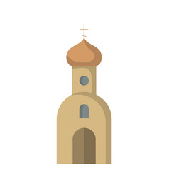 flat icon of the church vector image