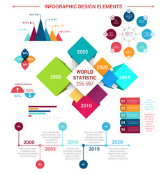 flat infographics design elements template vector image