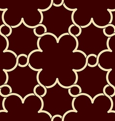 Flowers pattern red and gold decor vector