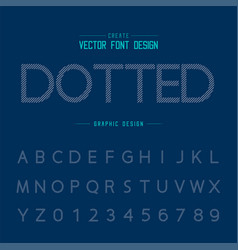 Font and alphabet design typeface and number vector