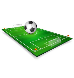football field soccer field set with football vector image