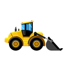 front end loader bulldozer construct machines vector image